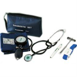 SET DIAGNOSTICO - sfigmo + steto + laccio emostatico + lampada diagnostica + martello di Buck