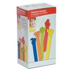 ABBASSALINGUA IN PLASTICA colorati - conf.50pz