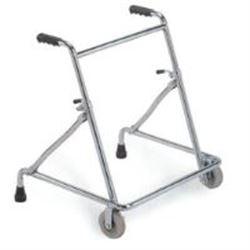 DEAMBULATORE FISSO - 2 RUOTE ANTERIORI - altezza regolabile - peso 4,5kg - portata 100kg