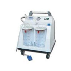 ASPIRATORE CHIRURGICO TOBI HOSPITAL su rotelle - 230V - 2x4lt - 90lt/min