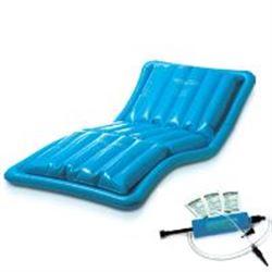 MATERASSO ANTIDECUBITO AD ACQUA IN PVC con compressore manuale + tubo gonfiaggio + 2 disinfettanti