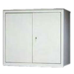 SOPRALZO in metallo - 2 porte / 1 ripiano - 100x45xh.88cm - grigio
