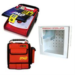 DEFIBRILLATORE DAE SEMIAUTOMATICO I-PAD NF1200 - versione pack (con borsa + teca con allarmi)