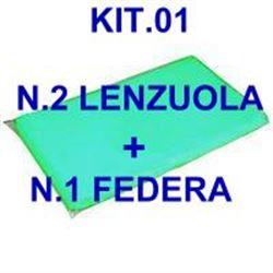 """KIT """"01"""" PER BARELLA = n.2 LENZUOLA + n.1 FEDERA"""