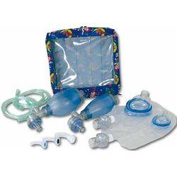 KIT RIANIMAZIONE PALLONE DI VENTILAZIONE in PVC - set pediatrico / set neonatale