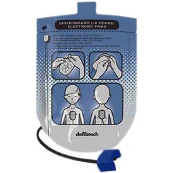 COPPIA PIASTRE ELETTRODI MONOPAZIENTE PER DEFIBRILLATORI DEFIBTECH LIFELINE AED - pediatriche