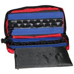AMPOLLARIO ASTUCCIO PORTAFIALE CON ELASTICI - 25x12xh.7cm - 28 fiale / ampolle - rosso