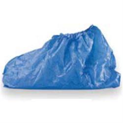 CALZARI COPRISCARPA / SOVRASCARPA MONOUSO IN CPE con fascia elastica - impermeabile - azzurro - conf.100pz