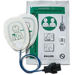 COPPIA PIASTRE ELETTRODI MONOPAZIENTE PER DEFIBRILLATORI PHILIPS MRX / XL - pediatriche - conf.5pz