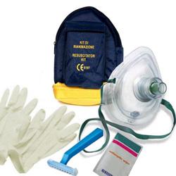 KIT RIANIMAZIONE RCP / BLSD completo - pocket mask + accessori defibrillatore