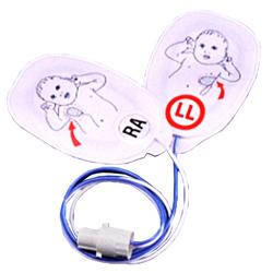 COPPIA PIASTRE ELETTRODI MONOPAZIENTE PER PHILIPS XL/HS4000 con connettore cilindrico - pediatriche - conf. 5coppie