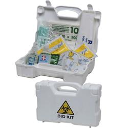 KIT EMERGENZA DISINFEZIONE PULVIBIO POLVERE ASSORBENTE in valigetta - 28,5x21xh.8,7cm - per ambienti