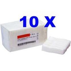GARZA IN COTONE NON STERILE 16strati - 10x10cm - conf.1000pz - (10x100pz)