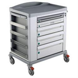 CARRELLO BASIC KS STANDARD - 5 cassetti - serratura - 92x71xh.108cm