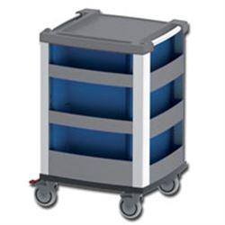 CARRELLO MULTIFUNZIONE COMPACT KART in alluminio - 3 cassetti - serratura - 61x66xh.98cm