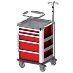CARRELLO MULTIFUNZIONE COMPACT KART - portata 150kg - 61x66xh.97cm - rosso