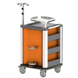 CARRELLO MULTIFUNZIONE COMPACT KART - portata 150kg - 61x66xh.97cm - arancione