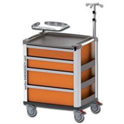 CARRELLO MULTIFUNZIONE MEDI KART - portata 200kg - 61x81xh.97cm - arancione