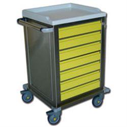 CARRELLO MULTIFUNZIONE in acciaio inox - con 7 cassetti - 67x63xh.104cm