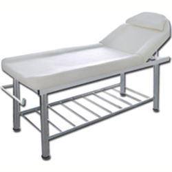 LETTINO DA MASSAGGI CON PORTAROTOLO E FORO FACCIALE - schienale reclinabile - 183x61xh.75cm - bianco