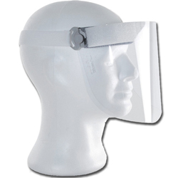 VISIERA SCHERMO PROTETTIVO TETI sovrapponibile + 2 schermi facciali trasparenti - ultra leggero