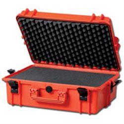 VALIGIA CERTIFICATA IP67 SOLIDA E RESISTENTE con interno in spugna - grande - 55x43xh.22cm - arancione
