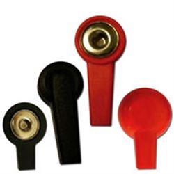 ADATTATORE PRESA FEMMINA da 2/4mm - rosso/nero - conf.10pz