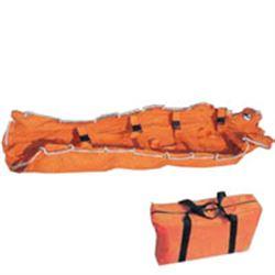 MATERASSO A DEPRESSIONE VACUUM MAT con borsa - 210x90cm - arancione