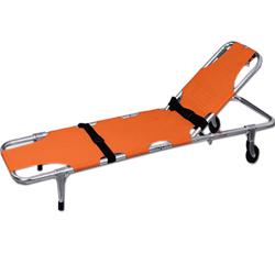 BARELLA PIEGHEVOLE IN 2 PARTI - con ruote - 188x53xh.21cm - peso 8kg - portata 150kg - arancione