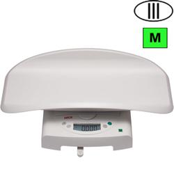 BILANCIA PESA NEONATI / BAMBINI OSPEDALIERA DIGITALE SECA 384 - classe III - portata 20kg - bianca