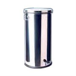 CESTINO RIFIUTI / PATTUMIERA CON PEDALE in acciaio inox - capacità 70lt