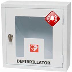 ARMADIETTO TECA PER DEFIBRILLATORI - 42,5x16xh.42,5cm - uso interno con allarme