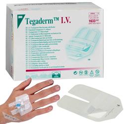MEDICAZIONE STERILE ADESIVA TEGADERM 3M IV STRIPS - 1633 - 7x8,5cm - conf.100pz