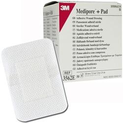 CEROTTO MEDIPORE™ 3M + PAD - 5x7cm - conf.50pz
