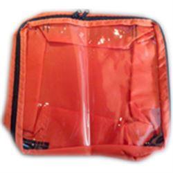 BORSETTA / ASTUCCIO DI TRASPORTO in nylon con finestra - 28,5x32xh.15cm - arancione