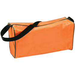 BORSINA EMERGENZA IN NYLON CON CERNIERA E MANIGLIA - 40x16xh.21cm - vuota - arancione