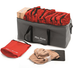 SET MANICHINI BLS CPR GONFIABILI MINI ANNE PLUS - conf.10pz