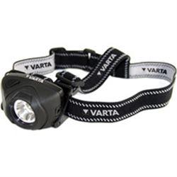 LAMPADA FRONTALE LED con cingitesta morbido - autonomia 15ore - 100 lumen - Resistente all'acqua