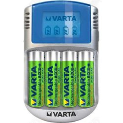 CARICABATTERIE UNIVERSALE 220V usb 12V - VARTA - per batterie AA e AAA con display