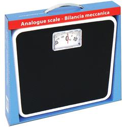 BILANCIA PESAPERSONE MECCANICA - pedana antiscivolo - portata 125kg - nera