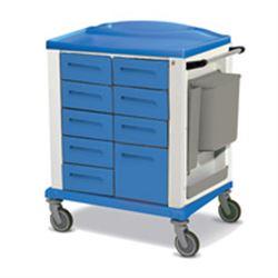 CARRELLO MULTIFUNZIONALE BASIC STANDARD - 9 cassetti - serratura - 82x64xh.100cm - blu
