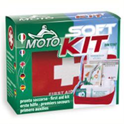 KIT PRONTO SOCCORSO BORSA 626 SOFT KIT MOTO - 15x13x5cm - norma DIN13167 - per moto e motocicli