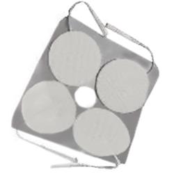 ELETTRODI PREGELLATI ROTONDI DIAMETRO 45mm con filo - conf.4pz