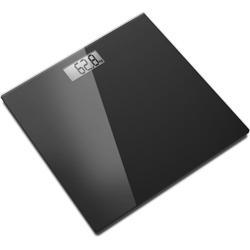BILANCIA PESAPERSONE DIGITALE - pedana in vetro - portata 150kg - nera
