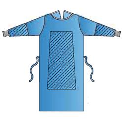 CAMICE CHIRURGICO MONOUSO STERILE 35g - rinforzato - impermeabile - azzurro - conf.30pz - varie misure