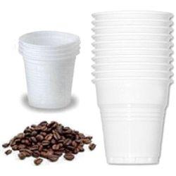 BICCHIERI CAFFE' IN PLASTICA MONOUSO DA 80cc - conf.100pz