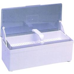 CONTENITORE DISINFETTANTE FERRI - 26,5x12xh.8,5 - per attrezzi manicure / pedicure