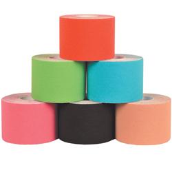 TAPING NEUROMUSCOLARE KINESIOLOGICO - 5cmx5mt - mix 6 colori - elasticità 160% - resistente all'acqua - conf.6pz