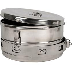 CESTELLO DRUM PER STERILIZZAZIONE in acciaio inox - autoclavabile - Ø34xh.18cm