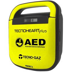 DEFIBRILLATORE DAE SEMIAUTOMATICO TECNO-GAZ TECNOHEART PLUS completo di accessori con borsa - adulto / pediatrico - garanzia 5 anni